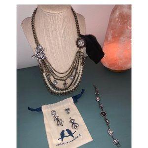 Necklace + bracelet + earrings set